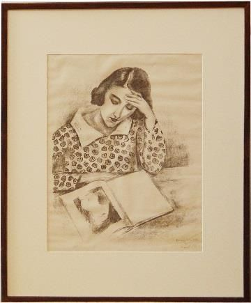 Large Girl Reading Matisse Print